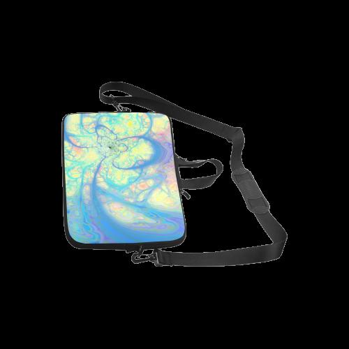 "Blue Angel, Abstract Cosmic Azure Lemon Laptop Handbags 10"""
