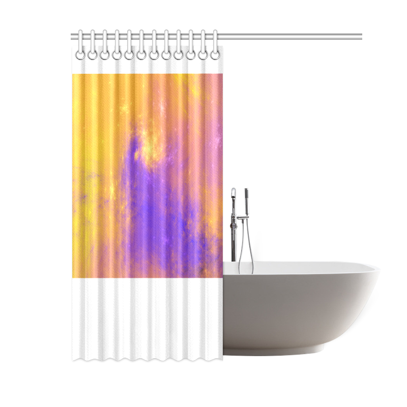 """Colorful Universe Shower Curtain 60""""x72"""""""