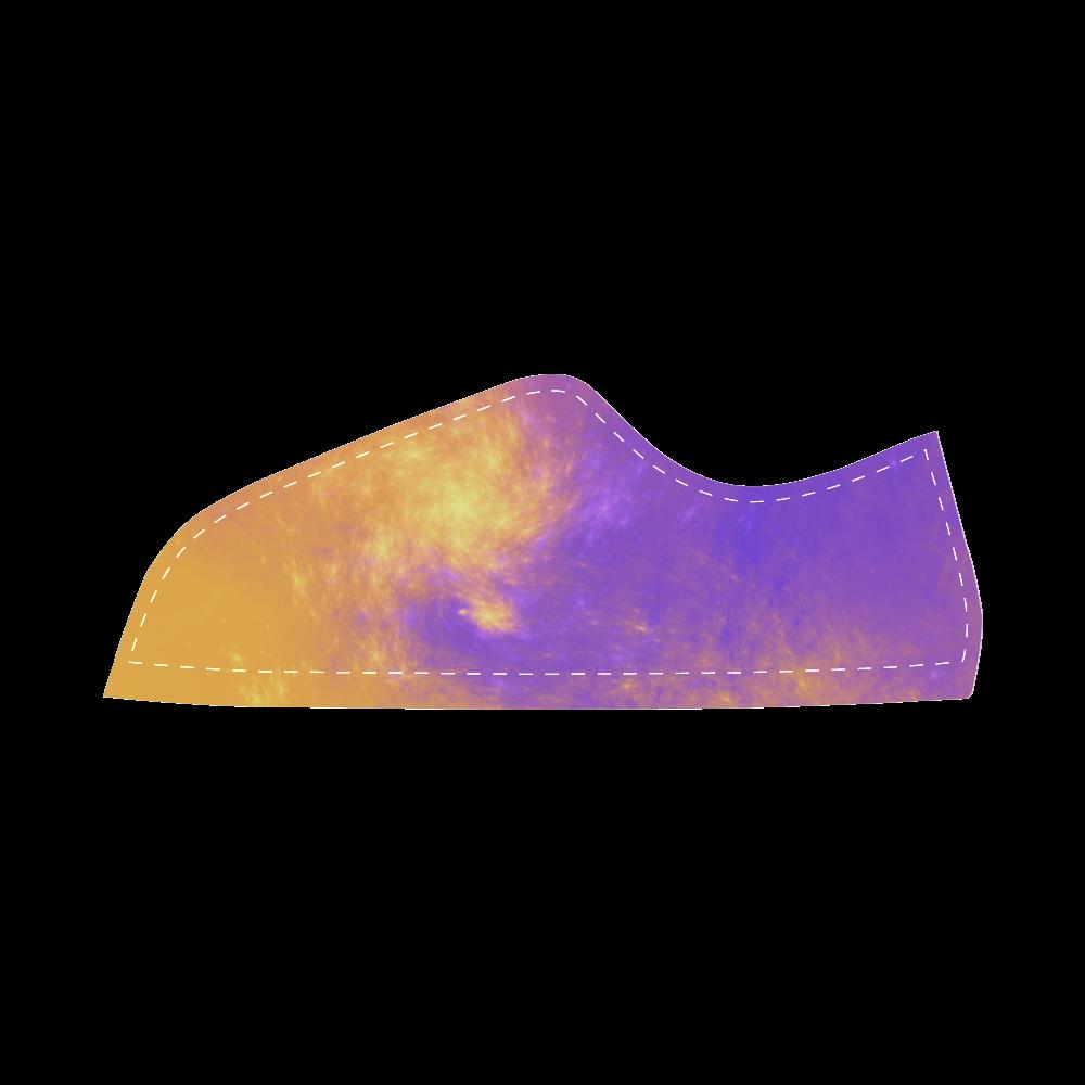 Colorful Universe Women's Canvas Shoes (Model 016)