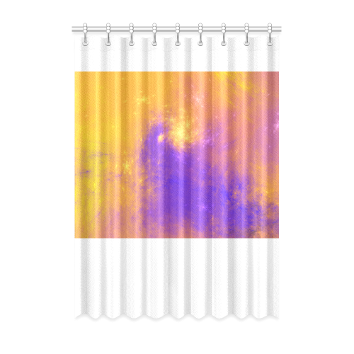 """Colorful Universe Window Curtain 52"""" x 72""""(One Piece)"""