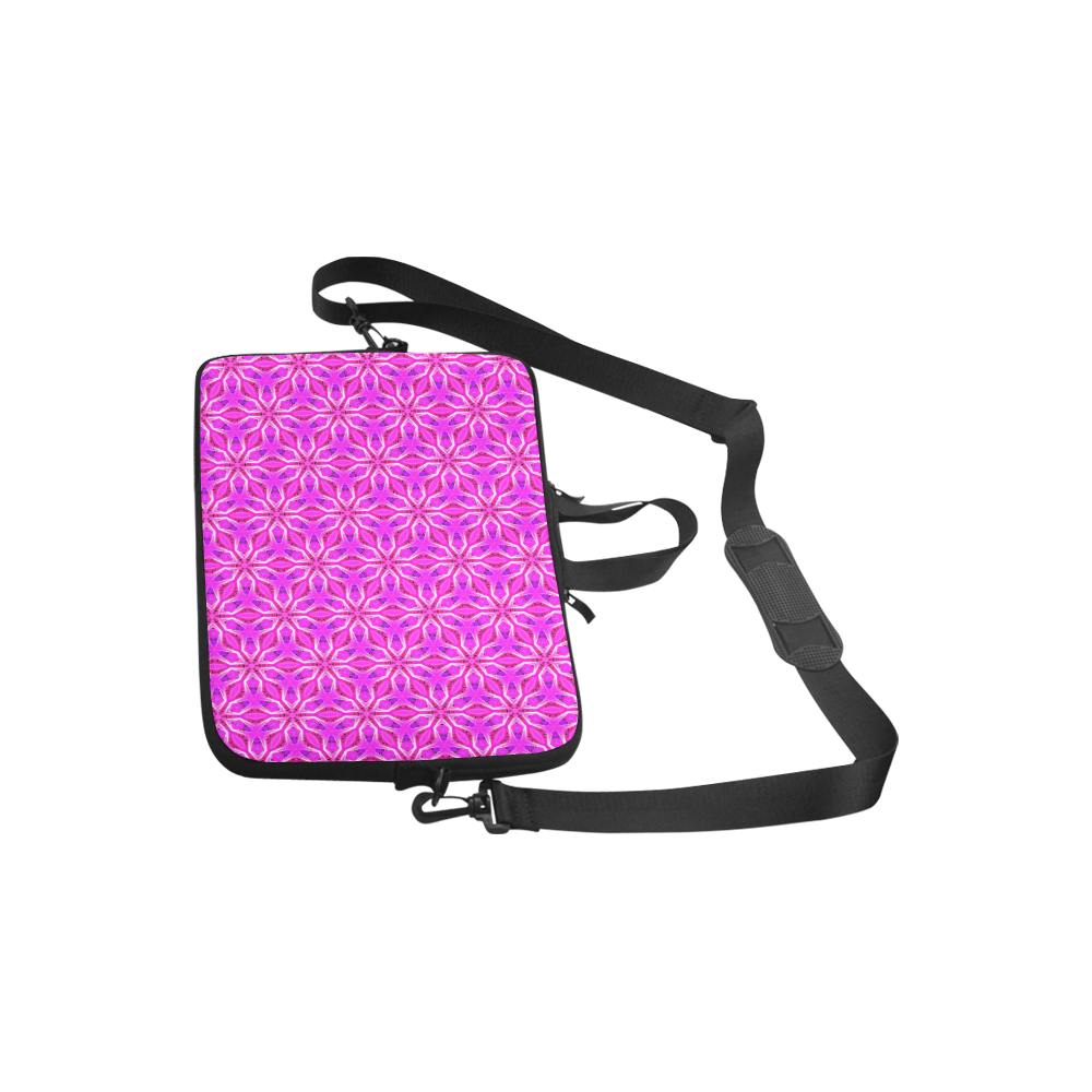 """Pink Snowflakes Spinning in Winter Abstract Laptop Handbags 10"""""""