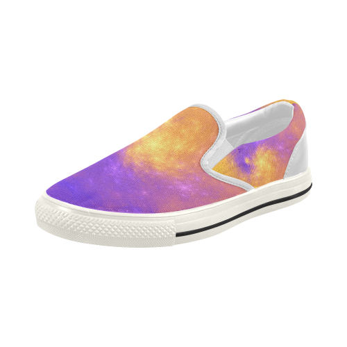 Colorful Universe Women's Slip-on Canvas Shoes (Model 019)