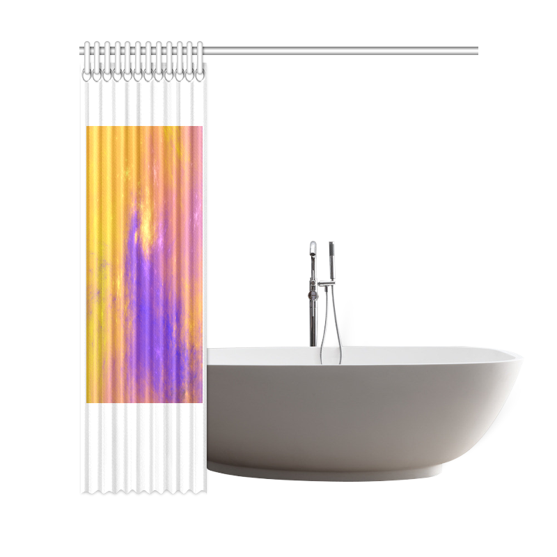 "Colorful Universe Shower Curtain 69""x72"""
