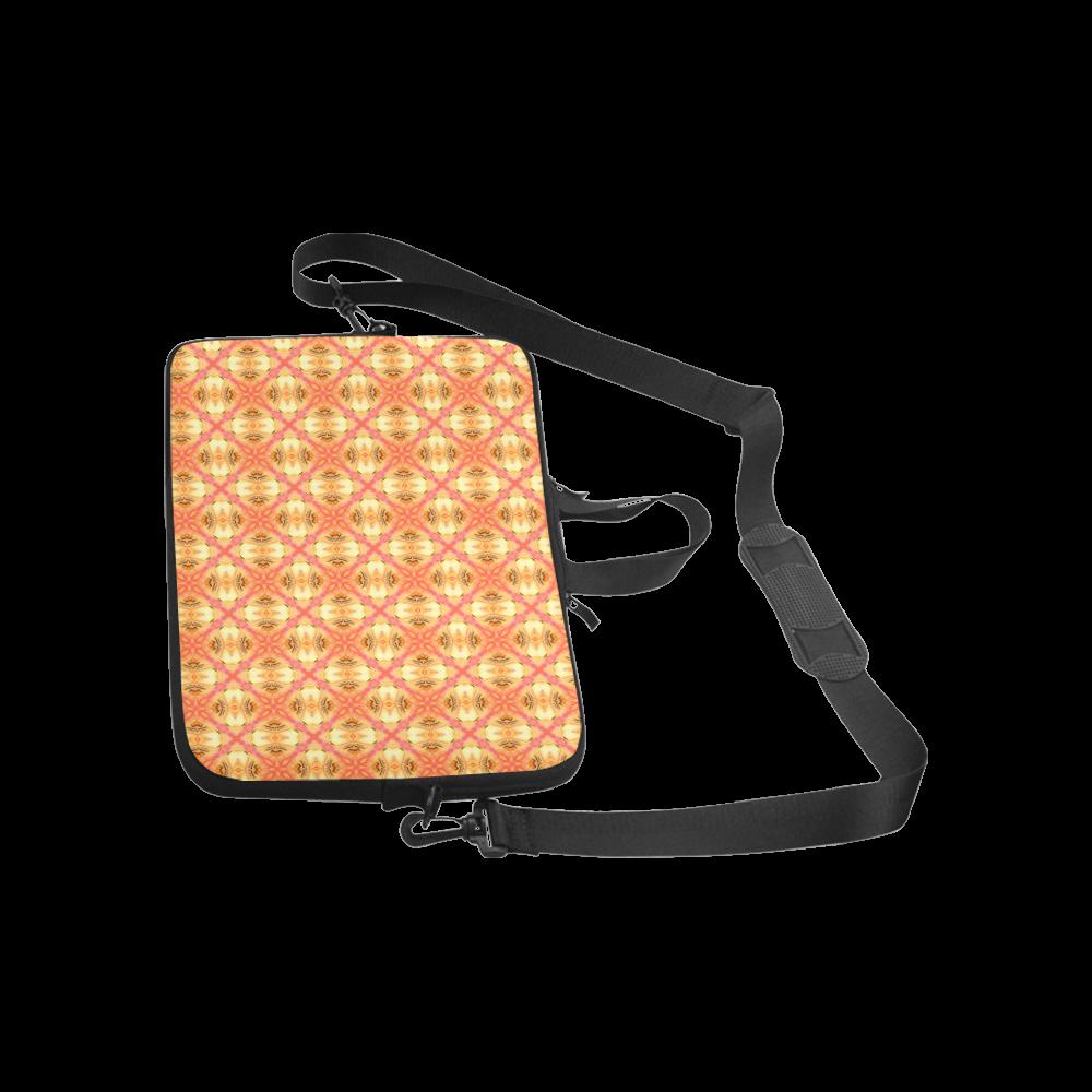 "Peach Pineapple Abstract Circles Arches Laptop Handbags 13"""