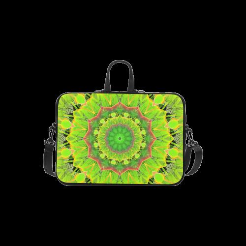 """Golden Green Foliage Ferns Abstract Summer Days Laptop Handbags 11"""""""