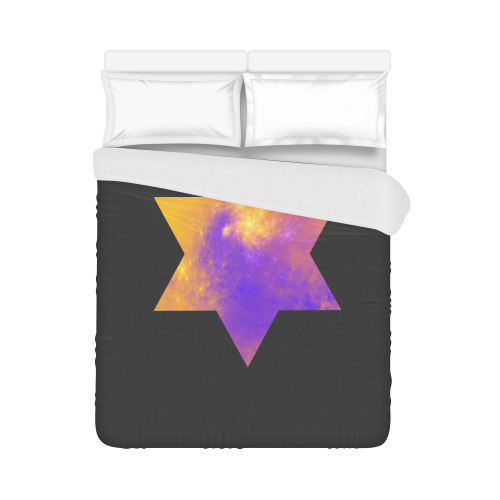 """Colorful Universe Star Duvet Cover 86""""x70"""" ( All-over-print)"""