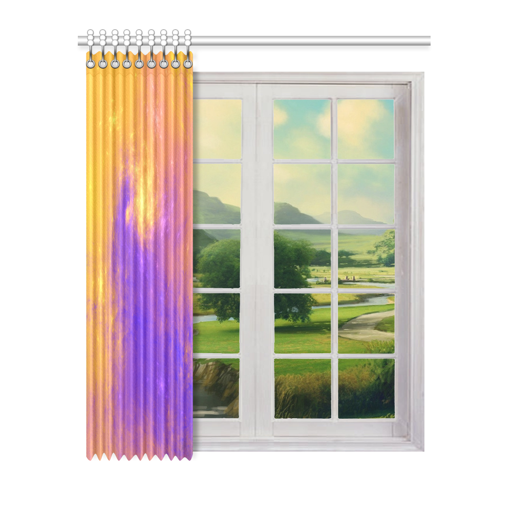 "Colorful Universe Window Curtain 52"" x 63""(One Piece)"