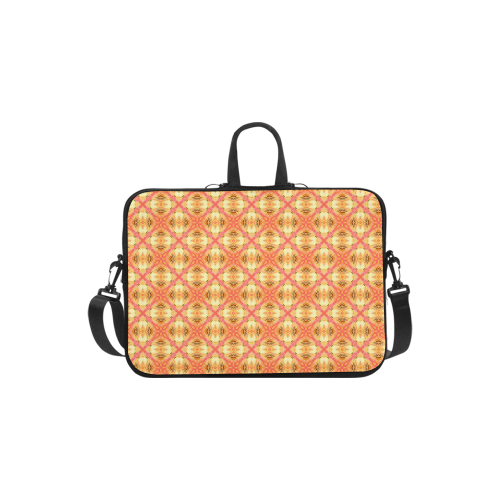 Peach Pineapple Abstract Circles Arches Laptop Handbags 11""