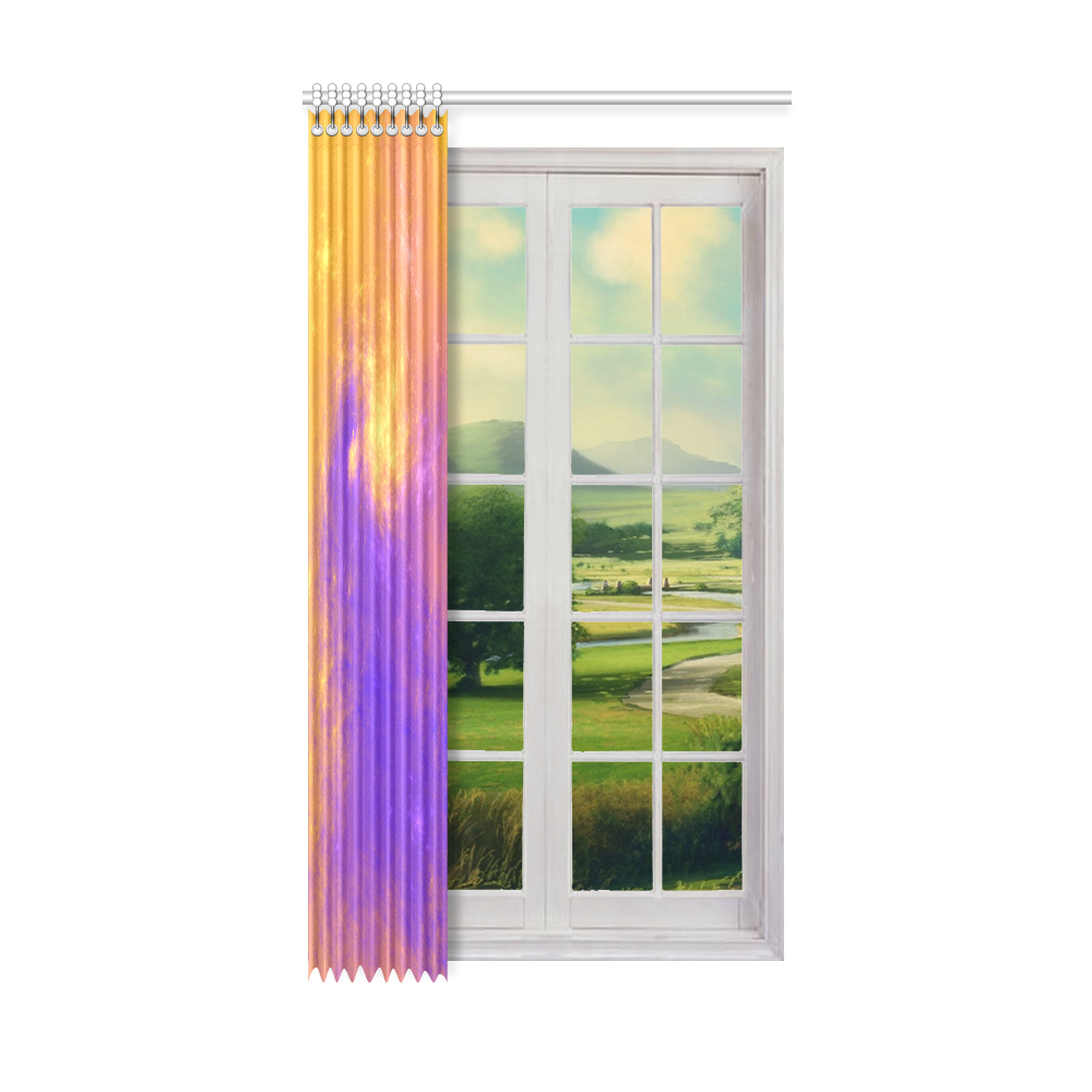 """Colorful Universe Window Curtain 52"""" x96""""(One Piece)"""