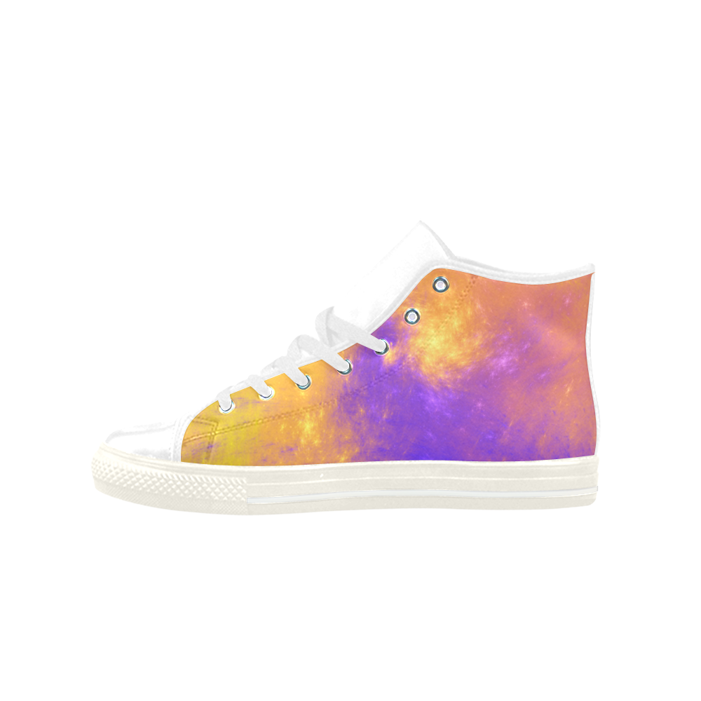 Colorful Universe Aquila High Top Microfiber Leather Women's Shoes (Model 027)