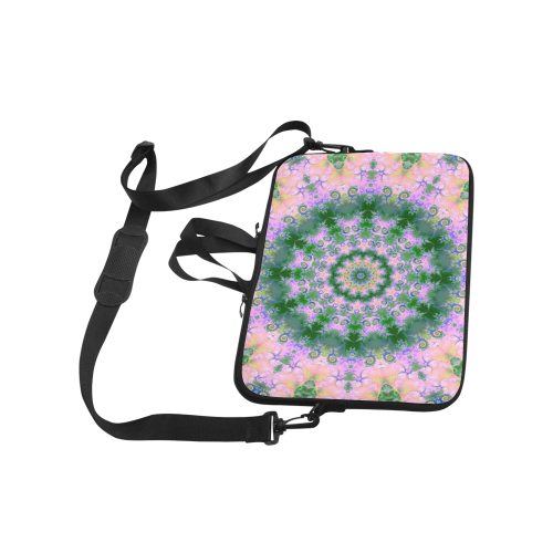"""Rose Pink Green Explosion of Flowers Mandala Classic Sleeve for 15.6"""" MacBook Air"""