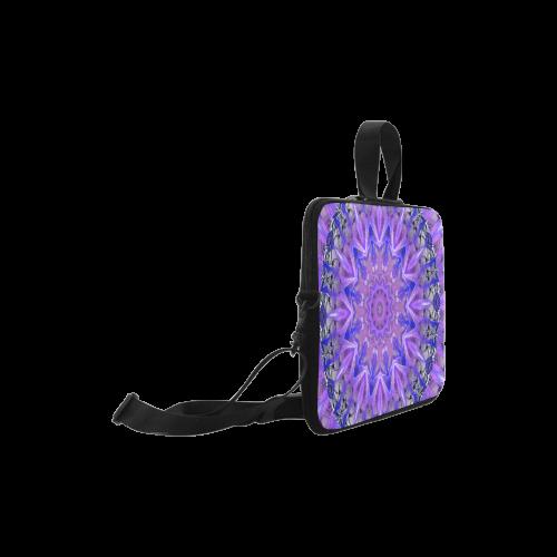 "Abstract Plum Ice Crystal Palace Lattice Lace Laptop Handbags 10"""