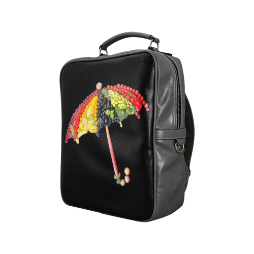 Under my Umbrella VeggieArt Vegan Square Backpack (Model 1618)