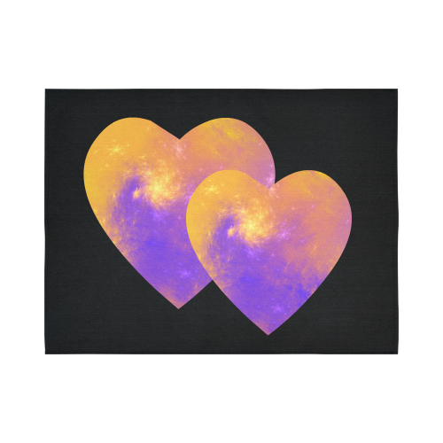 """Love is the Colorful Universe Cotton Linen Wall Tapestry 80""""x 60"""""""