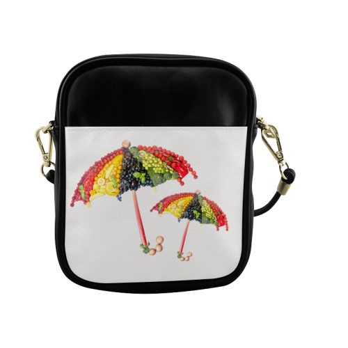 Under my Umbrella VeggieArt Vegan Sling Bag (Model 1627)