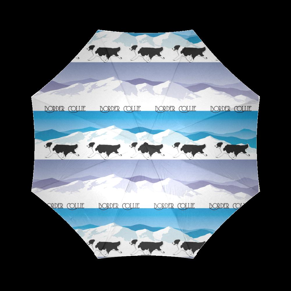 Border Collie Rockin The Rockies Foldable Umbrella (Model U01)