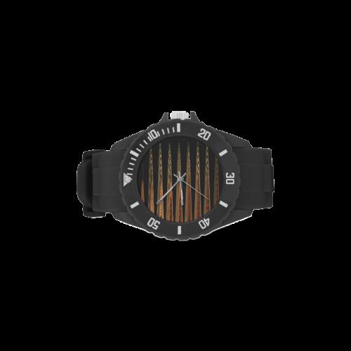 Swirly Stripes Sport Rubber Strap Watch(Model 301)