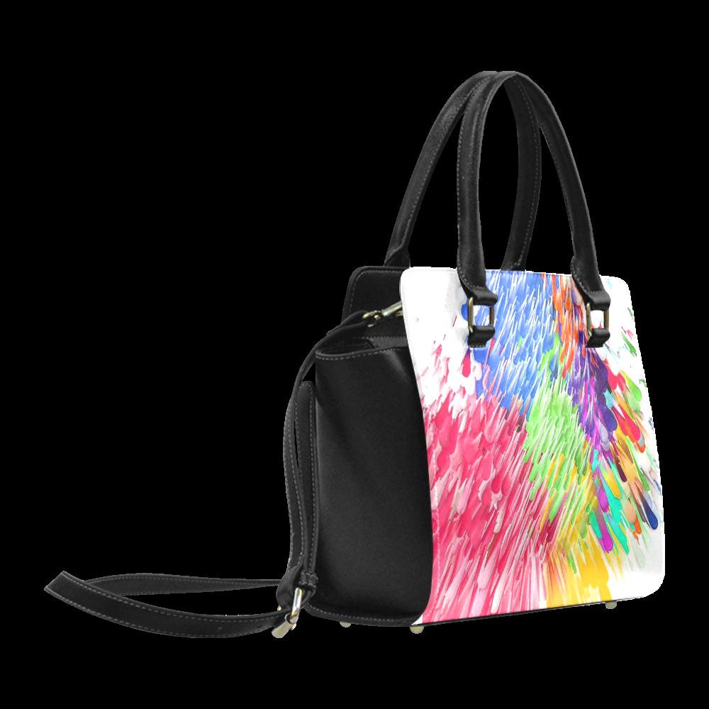 Paint splashes by Artdream Classic Shoulder Handbag (Model 1653)