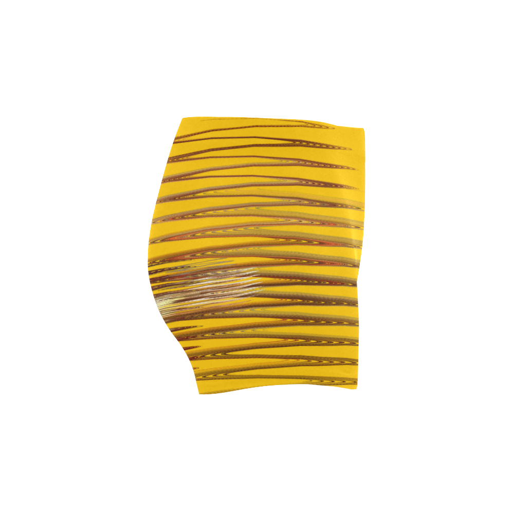 Swirly Stripes Briseis Skinny Shorts (Model L04)