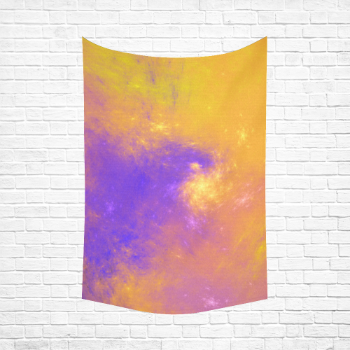 """Colorful Universe Cotton Linen Wall Tapestry 60""""x 90"""""""
