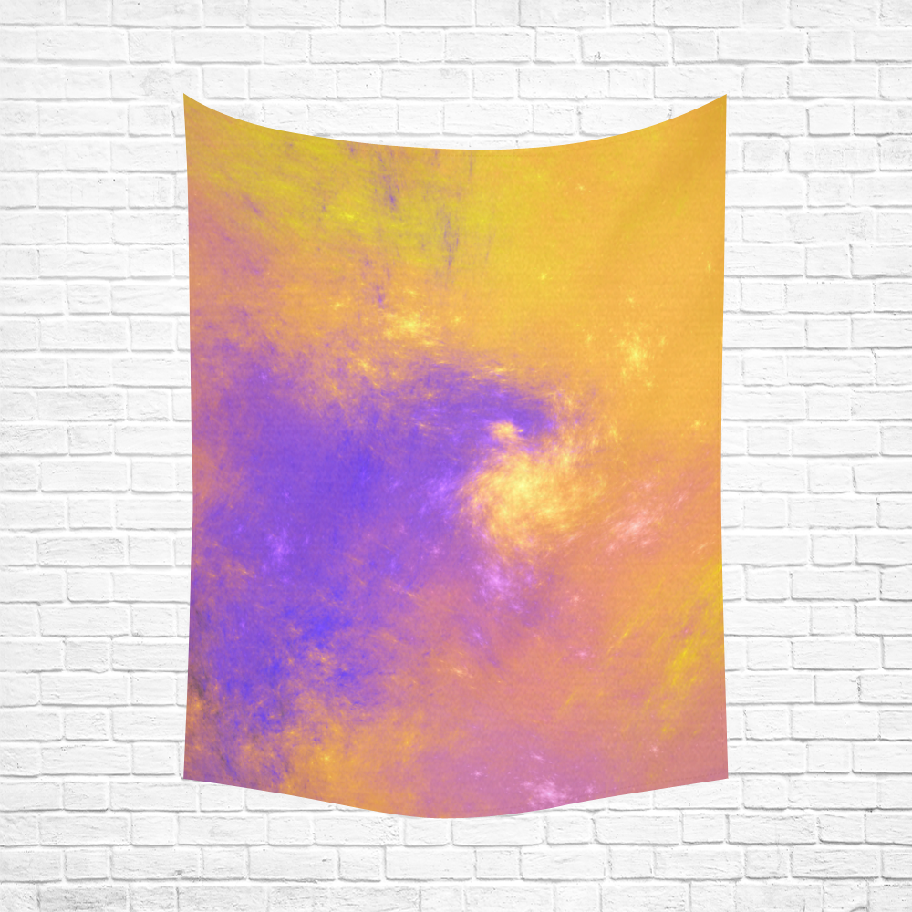 """Colorful Universe Cotton Linen Wall Tapestry 60""""x 80"""""""