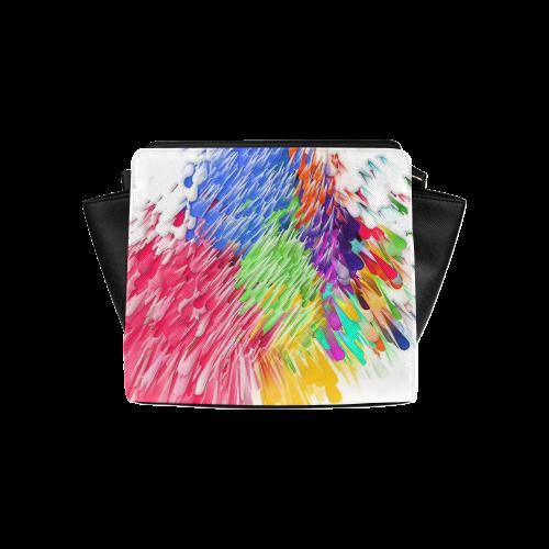 Paint splashes by Artdream Satchel Bag (Model 1635)