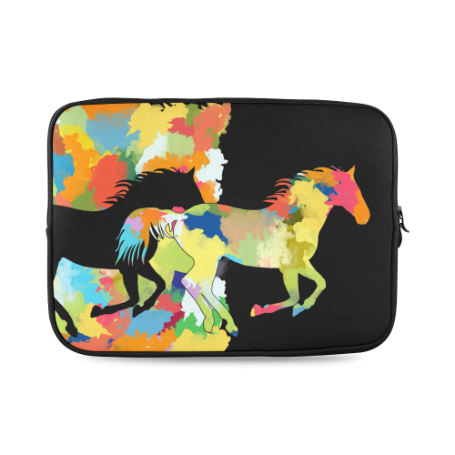 Horse  Shape Galloping out of Colorful Splash Custom Laptop Sleeve 14''