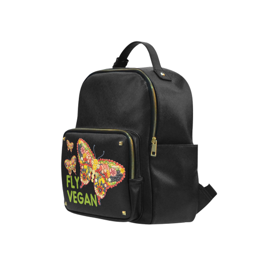 FLY VEGAN Butterflies Fruits Vegetables RAW Campus backpack/Large (Model 1650)
