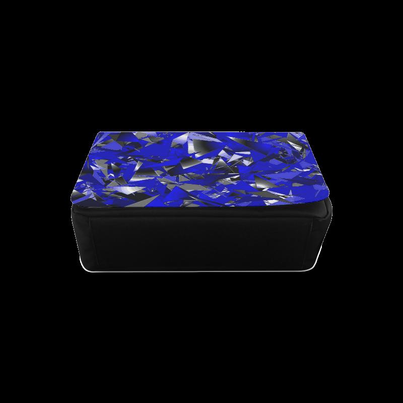 Smashed Glass - Blue, Black, White Abstract Messenger Bag (Model 1628)