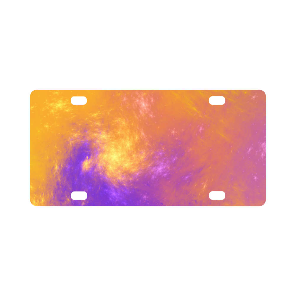 Colorful Universe Classic License Plate