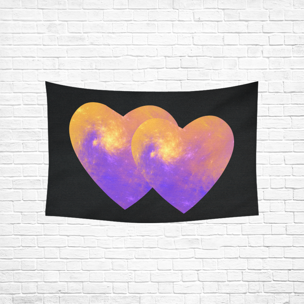 """Colorful Universe Cotton Linen Wall Tapestry 60""""x 40"""""""
