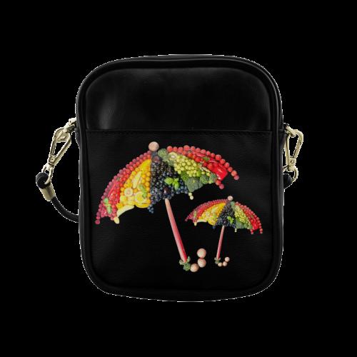 Under my Umbrella VeggieArt Vegan Sling Bag (Model 1627)