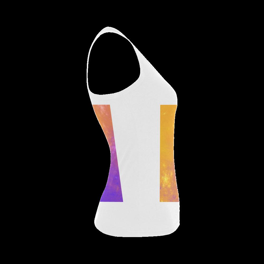 Colorful Universe Women's Shoulder-Free Tank Top (Model T35)