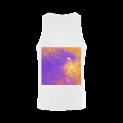 Colorful Universe Men's Shoulder-Free Tank Top (Model T33)