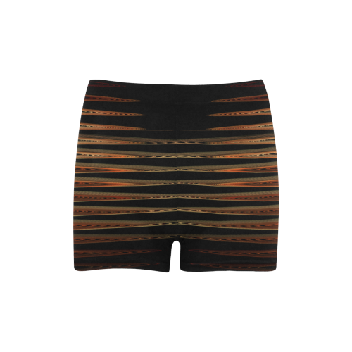 Swirly Stripes Briseis Skinny Shorts (Model L04)