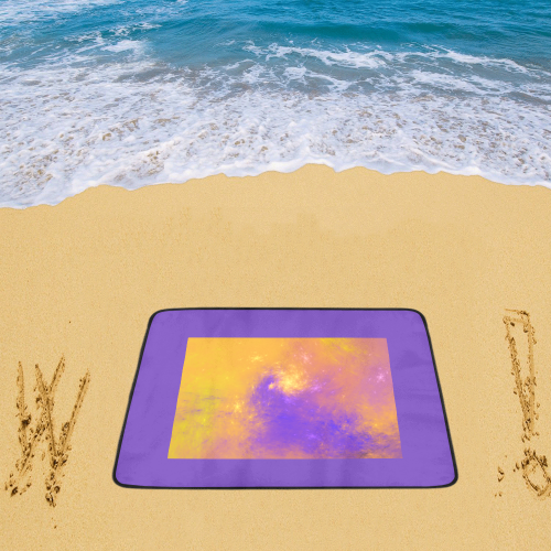 "Colorful Universe Beach Mat 78""x 60"""
