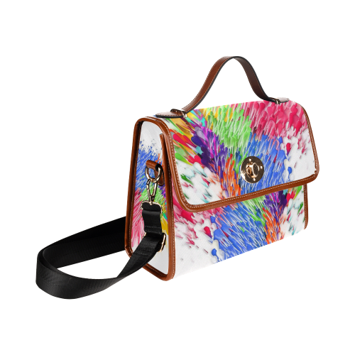 Paint splashes by Artdream Waterproof Canvas Bag/All Over Print (Model 1641)
