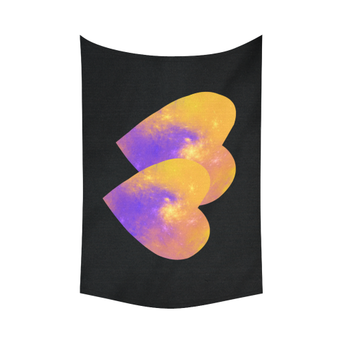 """Love is the Colorful Universe Cotton Linen Wall Tapestry 90""""x 60"""""""