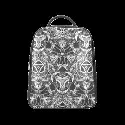 Zandine 0301 black white abstract garden Popular Backpack (Model 1622)