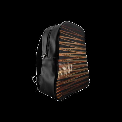 Swirly Stripes School Backpack/Large (Model 1601)