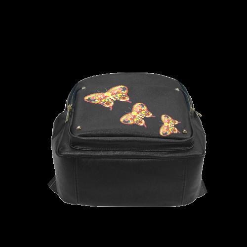 Dancing Butterflies Veggieart Vegan Campus backpack/Large (Model 1650)