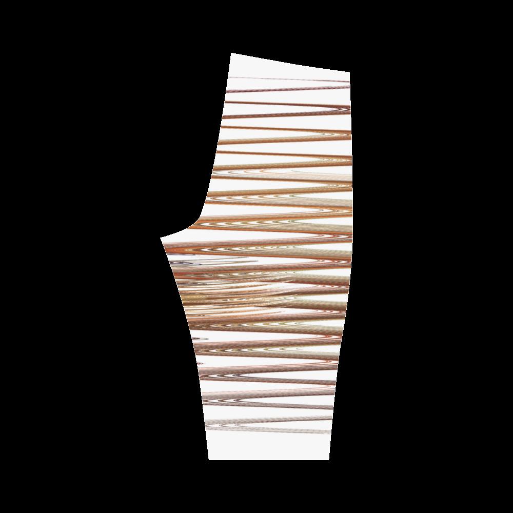 Swirly Stripes Hestia Cropped Leggings (Model L03)