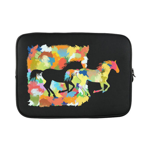 Horse  Shape Galloping out of Colorful Splash Macbook Pro 15''
