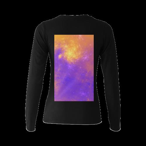 Colorful Universe Sunny Women's T-shirt (long-sleeve) (Model T07)