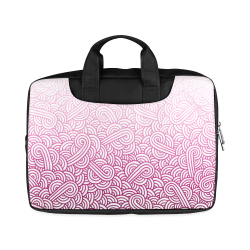 """Gradient pink and white swirls doodles Macbook Air 13""""(Two sides)"""