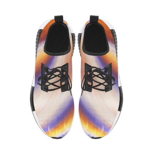 THE BIG WAVE Colorful Painting Men's Draco Running Shoes (Model 025)
