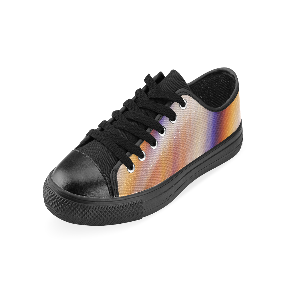 THE BIG WAVE Colorful Painting Men's Classic Canvas Shoes (Model 018)