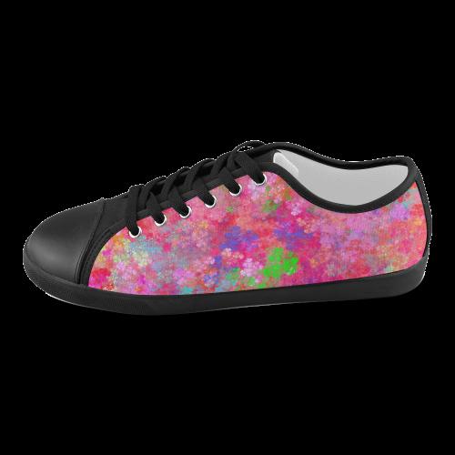 The Pink Party Colorful Splash Women's Canvas Shoes (Model 016)