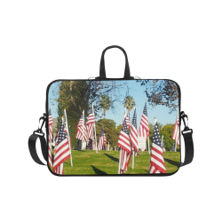 USA Flag Day by Martina Webster Laptop Handbags 17""