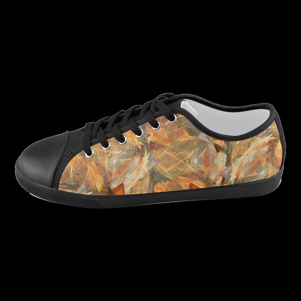 Mad Autumn Leafs Colors Women's Canvas Shoes (Model 016)